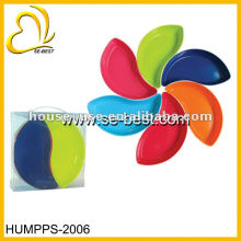 Placa de la flor melamina 6PCS, plato de la melamina, promoción de la melamina