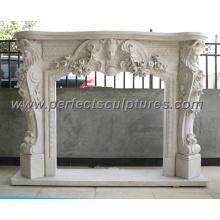 Cheminée en marbre en pierre avec mantel (QY-LS213)