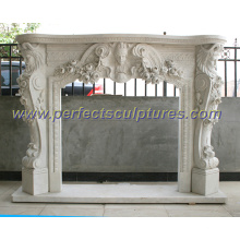 Stone Marble Fireplace with Mantel (QY-LS213)