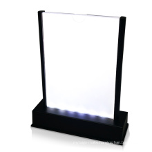 Double Sided Rechargeable Acrylic LED Menu Table Stand Holder Display Lighting Pos Rechargeable Menu Stand for Restaurant/Bar
