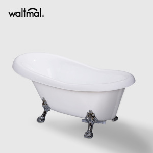 Polished Claw Feet Slipper Tub in White
