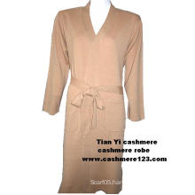 Cashmere Knit Bath Robe