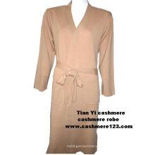 Кашемировый вязаный халат