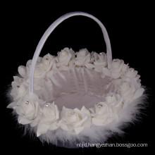 Flower decoration lace accessories bridal party wedding flower girl basket