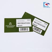 Tags de bens de supermercado personalizado bom preço com logotipo da marca
