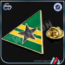 manufacturer china triangle lapel pin for sale