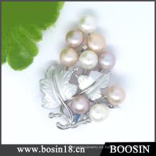 Broche de perlas de uva de diseño único de alta calidad # 51197
