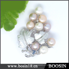 Design exclusivo de alta qualidade pérola de uva Beads Broche # 51197