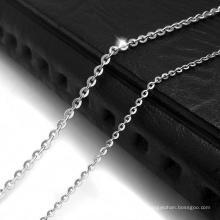 Cor de prata de aço inoxidável da colar 316L da corrente da corrente de Lobstet dos acessórios de forma