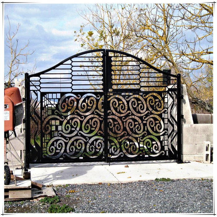laser cut metal gates