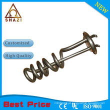 Elemento de aquecimento elétrico tubular de bobina