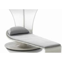 Chaise de lujo exterior salón de sol plegable
