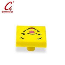 Furniture Hardware Children Cabinet PVC Catoon Knob for Drawer