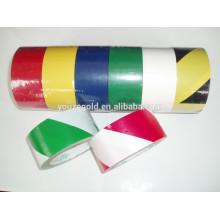 fita de aviso de PVC 6milx2''x18YD concolorosa e bicolorível