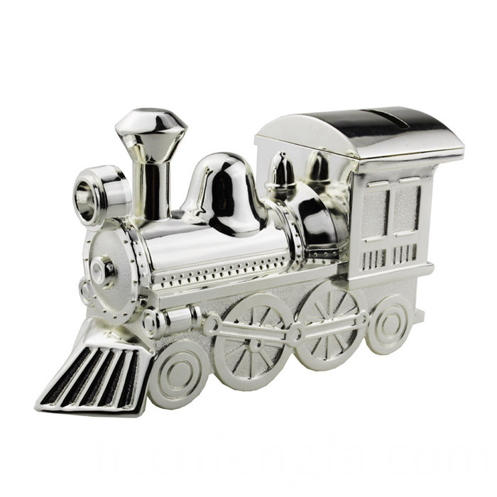 Zinc Alloy Train Coin Bank