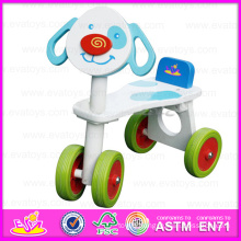 2015 Best Kids Christmas Gift Kids Tricycle Toy, Safety Baby Wooden Tricycle, Most Popular Wooden Four-Wheeler Wisting Car W16A002