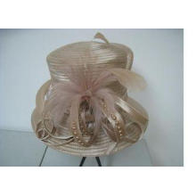 Fancy Church Hats For Women With Colorful Pearls Feathers B