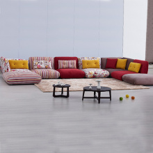 Foldable Floor Cushion Seating Corner Sofa Set