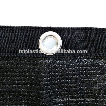 80% Black Shade Cloth Edge with Grommets Taped UV 12 ft x 6 ftprivacy fence screen