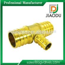 Custom Made OEM / ODM 1 2 3 4 polegadas DN15 20 China Alta qualidade de alta pressão 3 vias conector de mangueira de latão com válvula