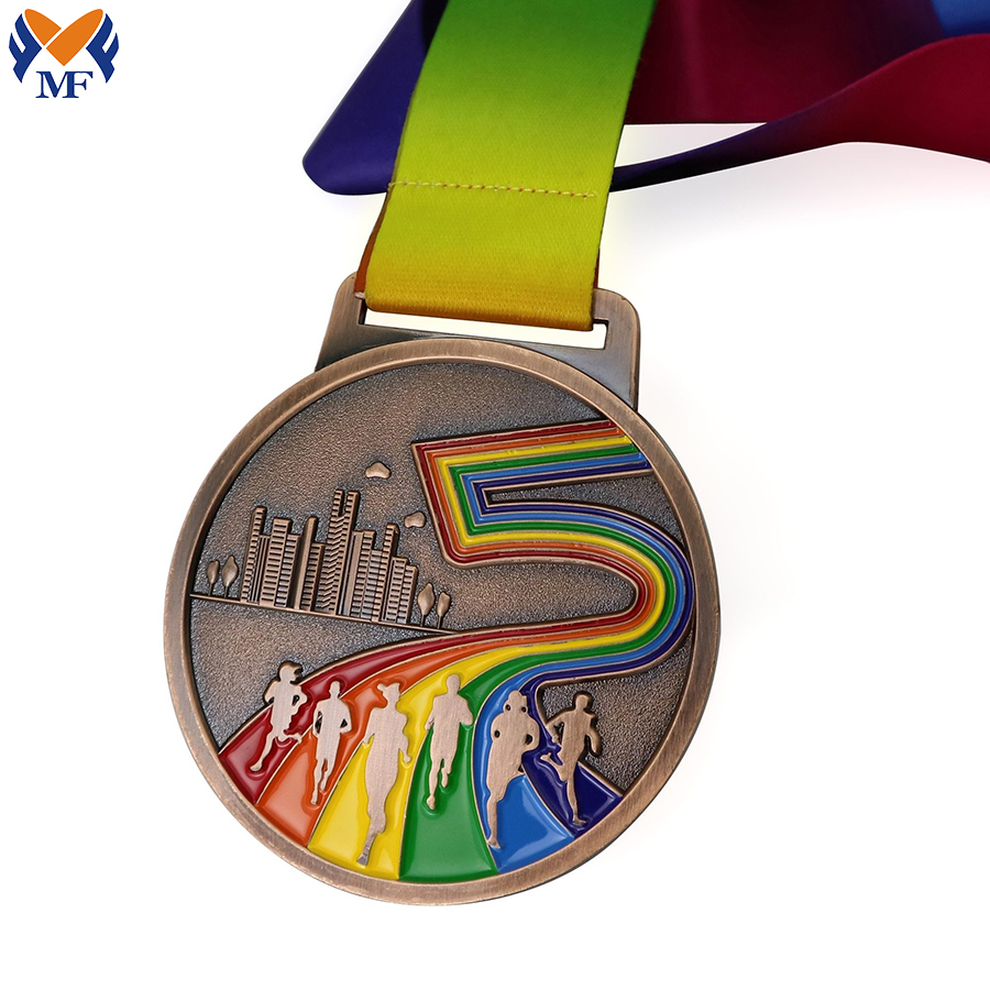 Custom Running Rainbow Medals
