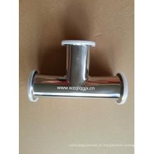 304 / 316L Sanitary aço inoxidável Clamped Equal Tee