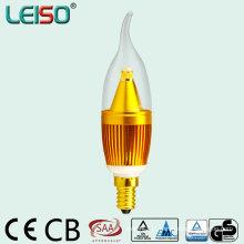 2500k 90ra 380lm C35 Lâmpada LED com CB SAA Aprovação