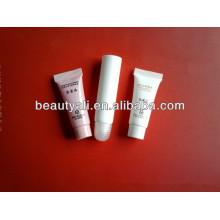 Tubo de plástico con tornillo en la tapa, tornillo en el tubo para el cuidado de la piel, tubo de la crema de la mano