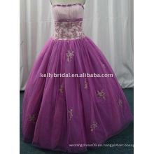 Luz purpura appliqued y beaded vestido de cóctel tarde de fiesta dresses1243