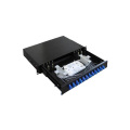 Panneau de raccordement à fibre optique noir à 12 ports à faible coût