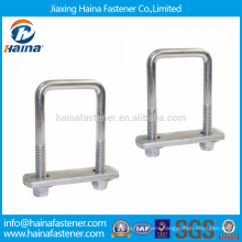 China Supplier Stainless Steel U Bolt Saddle Clamp with Plate