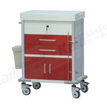 Stainless Steel Emergency Medical Trolley Hospital