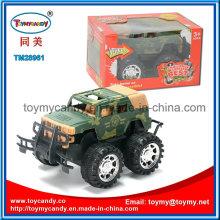 Brinquedo de veículo militar verde de fricção mais recente exército