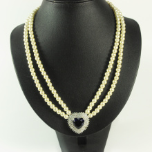 Pearl and Heart Pendant Necklace