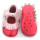 Fancy Baby Girls Roze metallic lederen mocassins