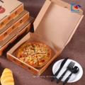 kundenspezifisches Logo Billigere bereiten E-Flöte gewölbte Pizza-Kästen auf
