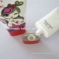 Tubo cosmético plástico de aluminio de la prueba de la crema del cc de la torcedura de la crema de la mano 50ml
