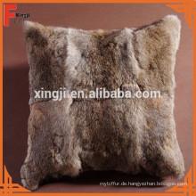 natürliche braune Farbe Hase Kaninchen Kissen für Sofa