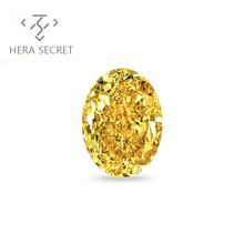 ForeverFlame  fancy yellow 8ct 10mm*14mm vvs Oval Cut diamond CVD CZ Moissanite haute couture 18K proposal ring