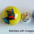 Decorative Printing Glass Marble Ball For Sale