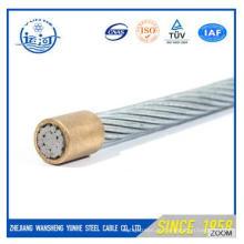 Fio de aço galvanizado Stranded OH (ACSR) 7X1.67mm