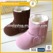 Novo estilo de moda adorável quente barato bebê inverno botas