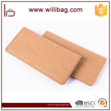 Durable Eco-friendly lavable larga cartera de papel Kraft Monedero