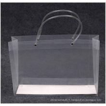 Sacs en plastique transparents promotionnels de haute qualité, logo imprimé en gros de sac de PP