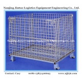 Folding Steel Wire Mesh Pallet Container for Warehouse Storage