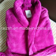 Vêtements de bain peignoir de nuit en flanelle épaisse solide