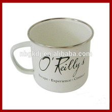 taza de esmalte con borde SS y color fashional
