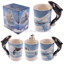 Lovely dolphin ceramic 3D mug