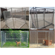Chaîne Link Dog Kennel Heavy Duty Chain Link Quick Connect Frame Pet Kage