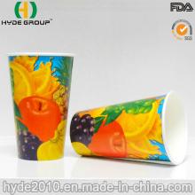Taza de papel bebida fría impresos con alta calidad (12oz) con aislamiento